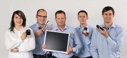 Das Experten-Team von ABUS Security-Center: v.l.n.r.: Alev Uslu, Dennis Olejniczak, Tobias Wolf, Frank Würfel und Steve Riesel